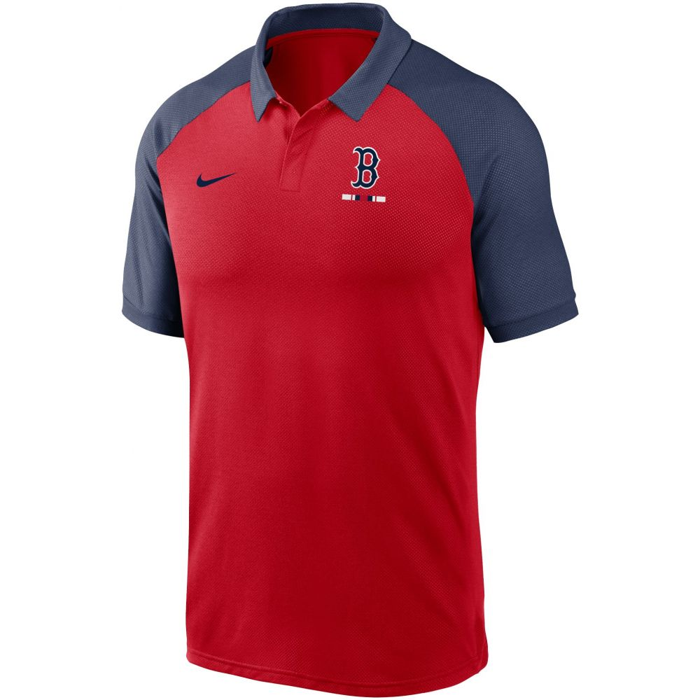 ナイキ Nike メンズ ポロシャツ トップス【Boston Red Sox Red Dri-FIT Legacy Raglan Polo】