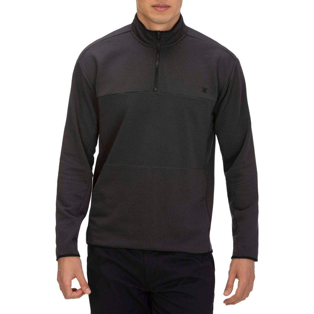 ハーレー Hurley メンズ フリース トップス【Dri-Fit Naturals Fleece Track 1/4 Zip Pullover】Off Noir