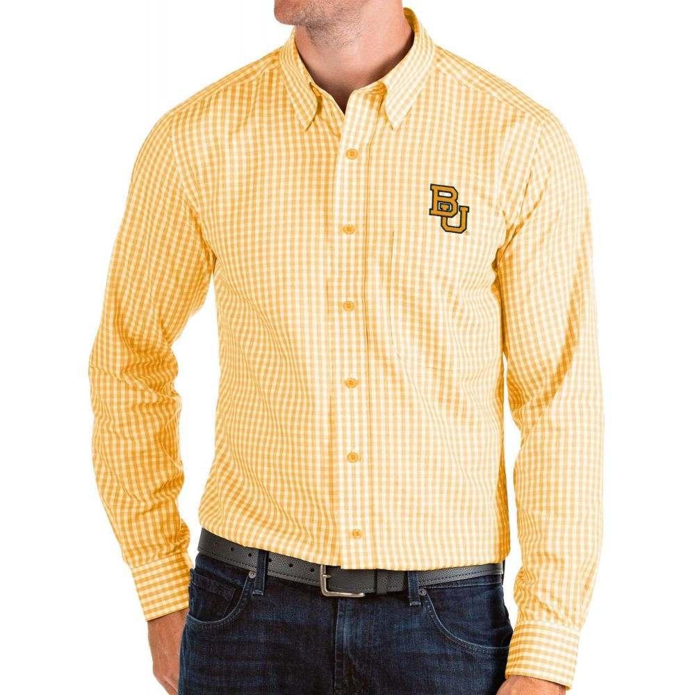 アンティグア Antigua メンズ シャツ トップス【Baylor Bears Gold Structure Button Down Long Sleeve Shirt】