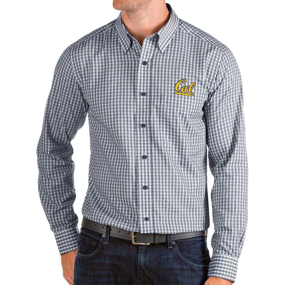 アンティグア Antigua メンズ シャツ トップス【Cal Golden Bears Blue Structure Button Down Long Sleeve Shirt】