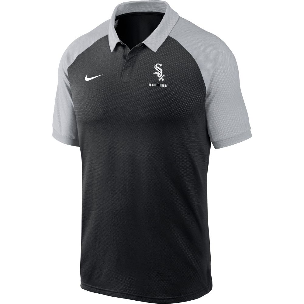 ナイキ Nike メンズ ポロシャツ トップス【Chicago White Sox Black Dri-FIT Legacy Raglan Polo】