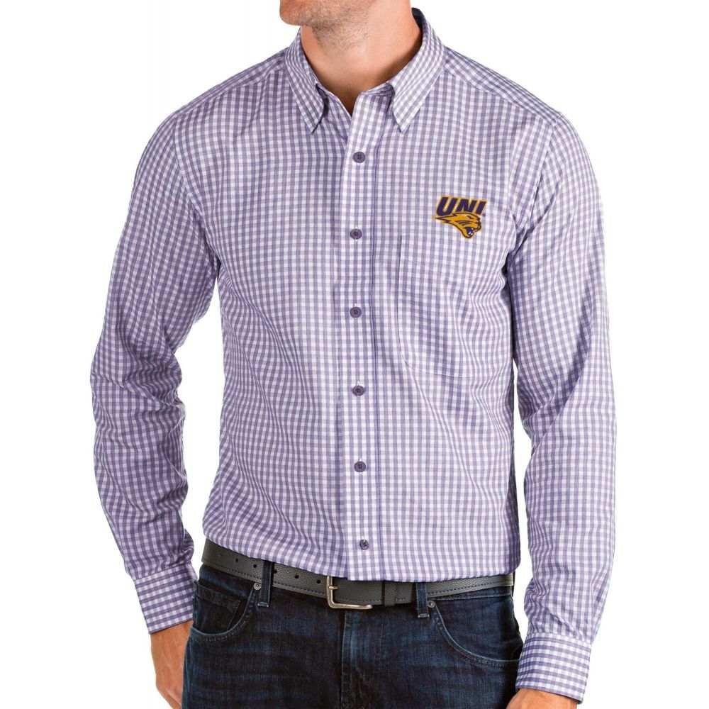 アンティグア Antigua メンズ シャツ トップス【Northern Iowa Panthers Purple Structure Button Down Long Sleeve Shirt】