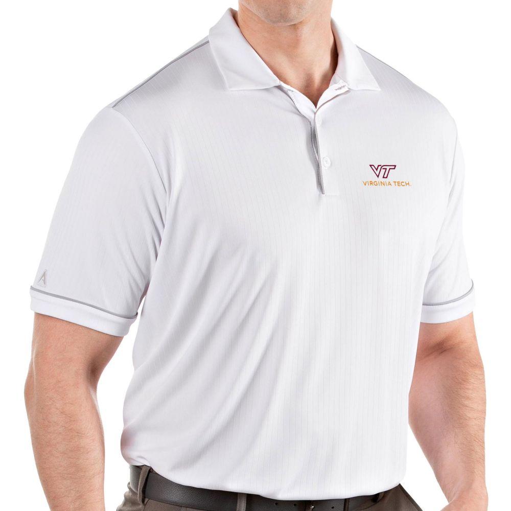 アンティグア Antigua メンズ ポロシャツ トップス【Virginia Tech Hokies Salute Performance White Polo】