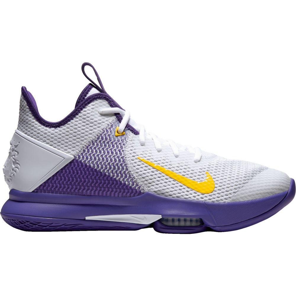 ナイキ Nike メンズ バスケットボール シューズ・靴【LeBron Witness 4 Basketball Shoes】White/Purple/Yellow