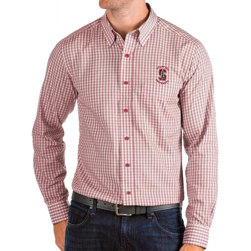アンティグア Antigua メンズ シャツ トップス【Stanford Cardinal Cardinal Structure Button Down Long Sleeve Shirt】