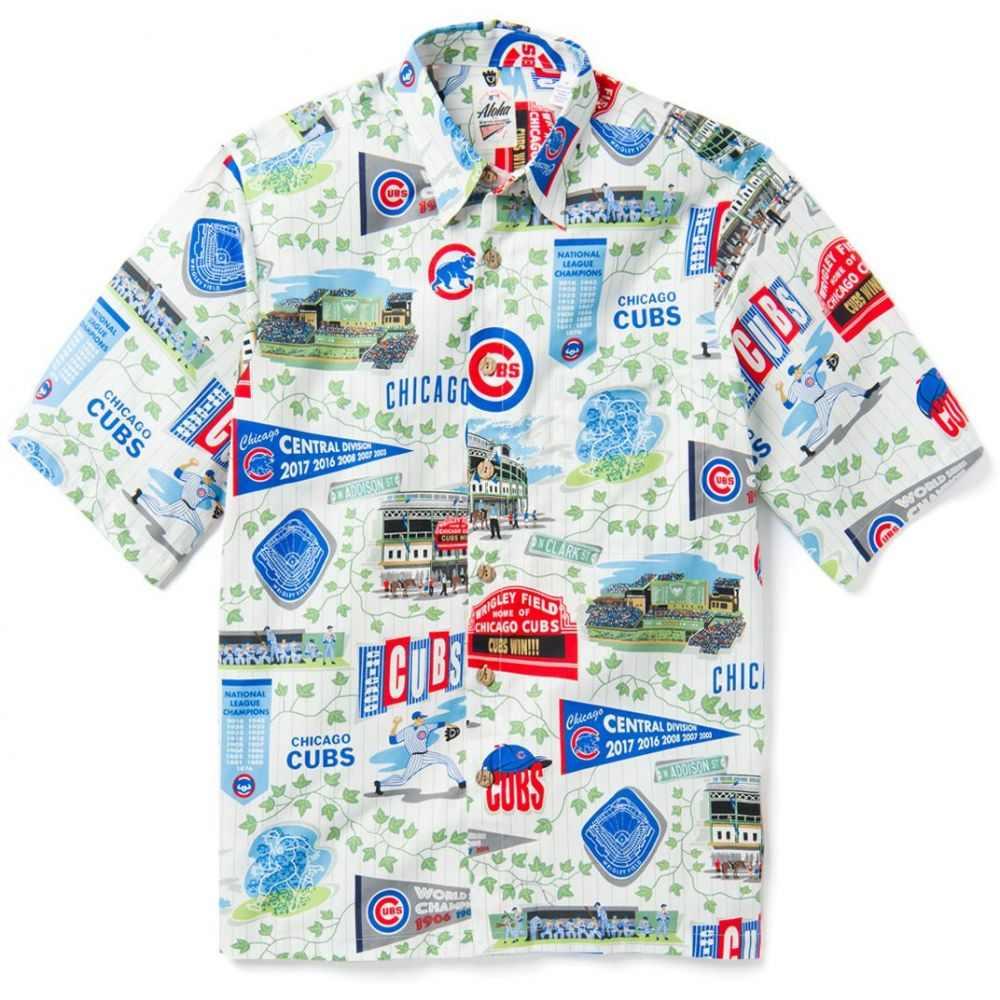 レインスプーナー Reyn Spooner メンズ シャツ トップス【Chicago Cubs Scenic Button-Down Shirt】