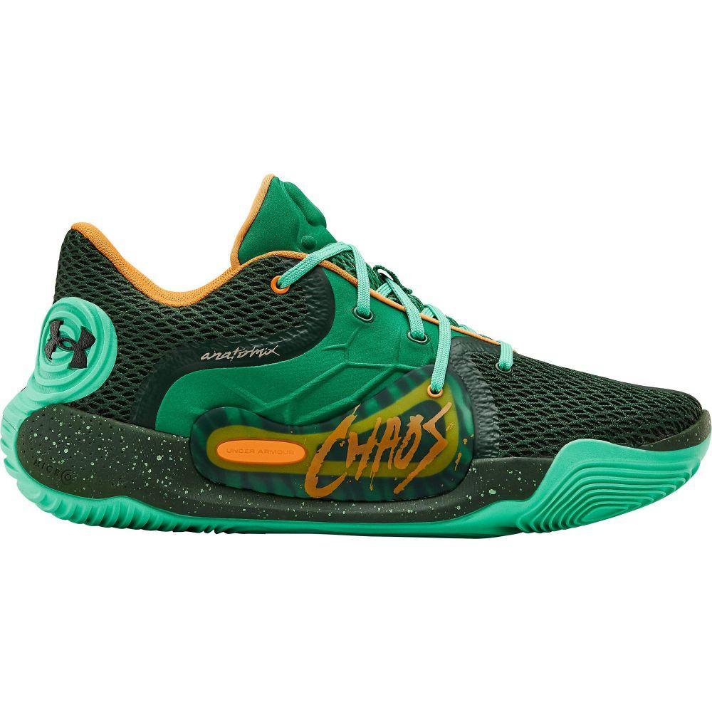 アンダーアーマー Under Armour メンズ バスケットボール シューズ・靴【Spawn Low 2 Basketball Shoes】Forest Green