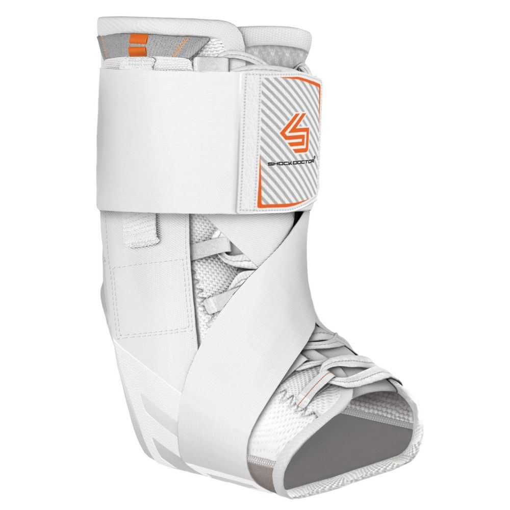 ショックドクター Shock Doctor ユニセックス フィットネス・トレーニング サポーター【Ultra Wrap Lace Ankle Brace】White
