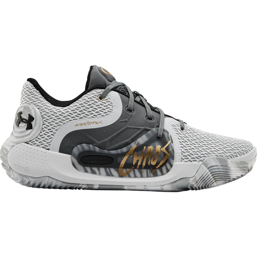 アンダーアーマー Under Armour メンズ バスケットボール シューズ・靴【Spawn Low 2 Basketball Shoes】Grey/Dark Grey