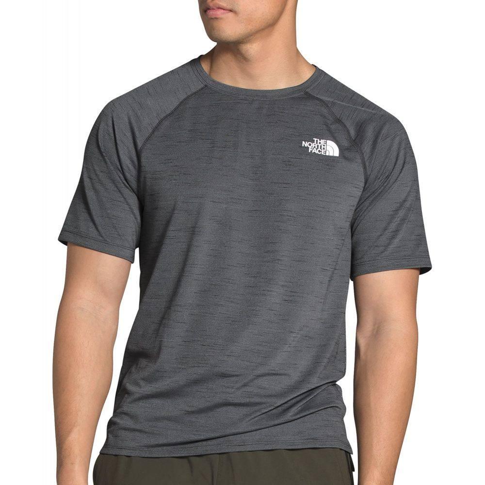 ザ ノースフェイス メンズ トップス Tシャツ TNF Dark Grey Heather North Jacquard Trail 定番から日本未入荷 T-Shirt Active Face The サイズ交換無料 爆買いセール