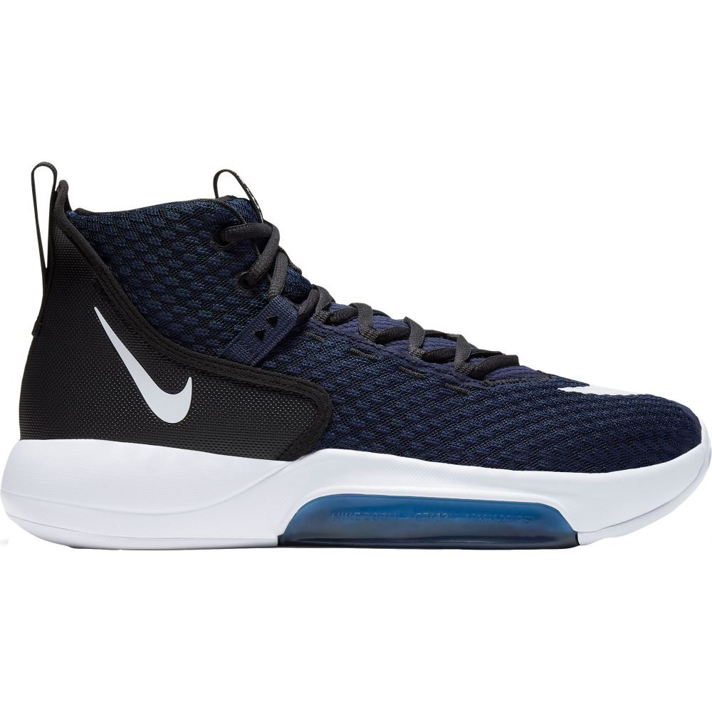 ナイキ Nike メンズ バスケットボール シューズ・靴【Zoom Rize Basketball Shoes】Navy/White