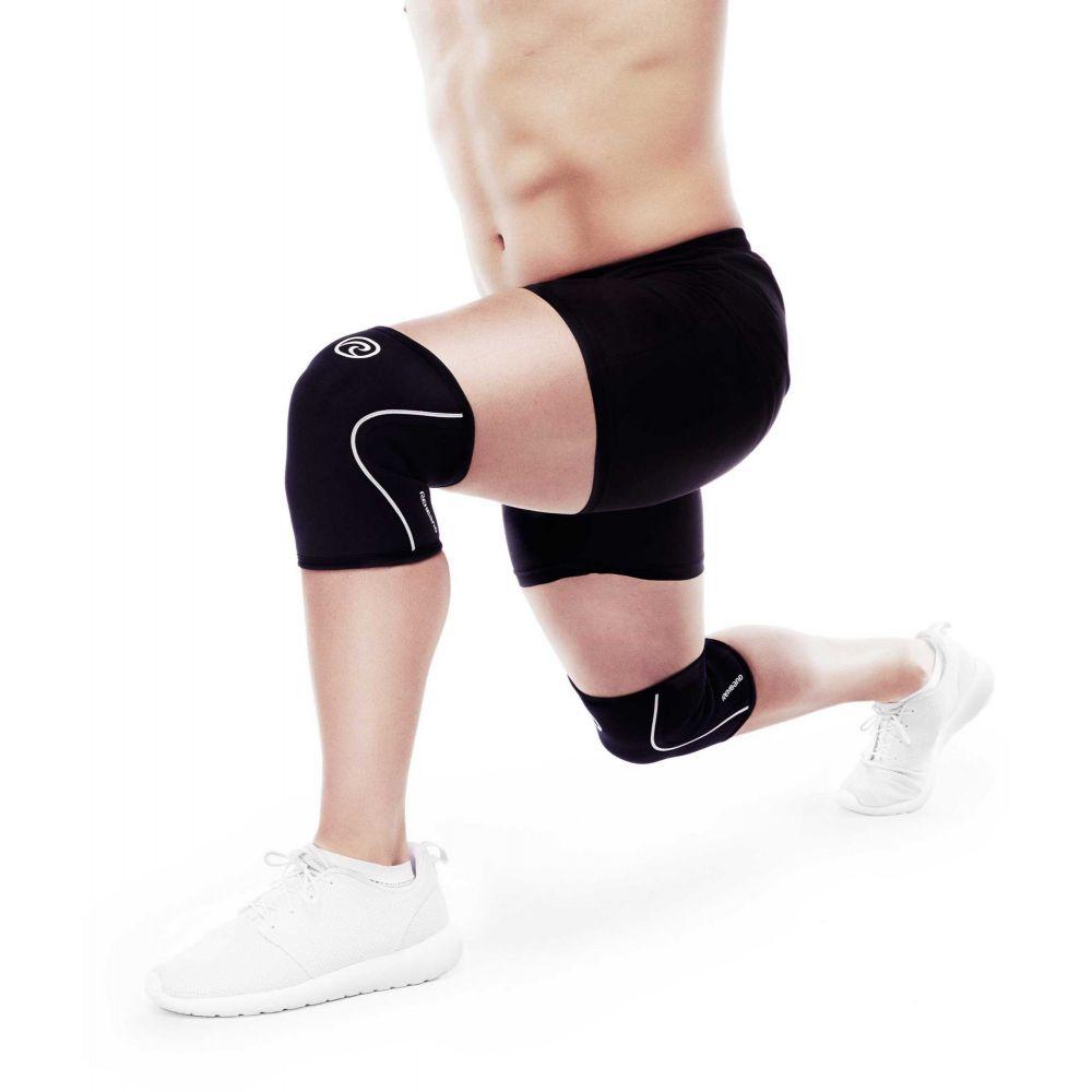 リーバンド REHBAND ユニセックス フィットネス・トレーニング サポーター【Rehband Rx 5mm Knee Support】Black