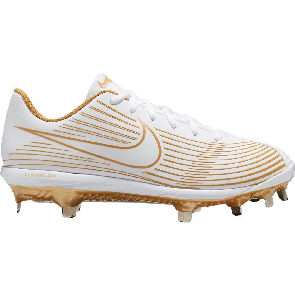 ナイキ Nike レディース 野球 シューズ・靴【Hyperdiamond 3 Varsity Metal Fastpitch Softball Cleats】White/Gold