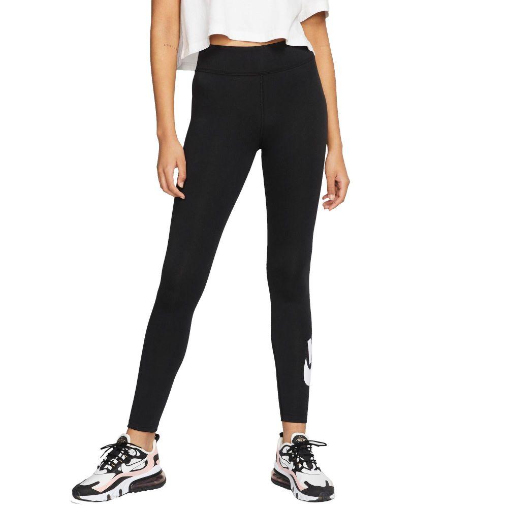 ナイキ Nike レディース ヨガ・ピラティス ボトムス・パンツ【High-Waisted Sportswear Leggings】Black/White