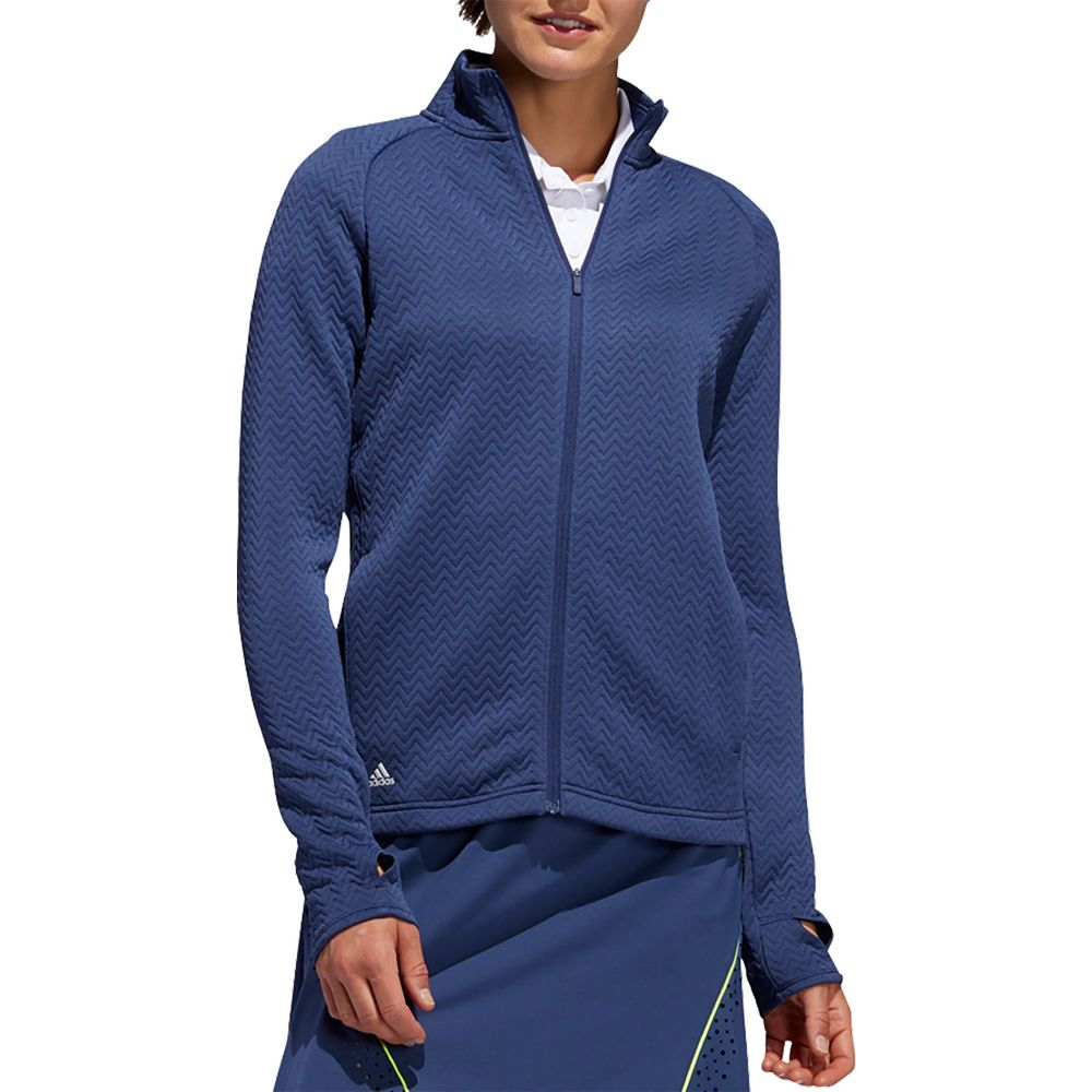 アディダス adidas レディース ゴルフ アウター【Textured Full-Zip Golf Jacket】Tech Indigo