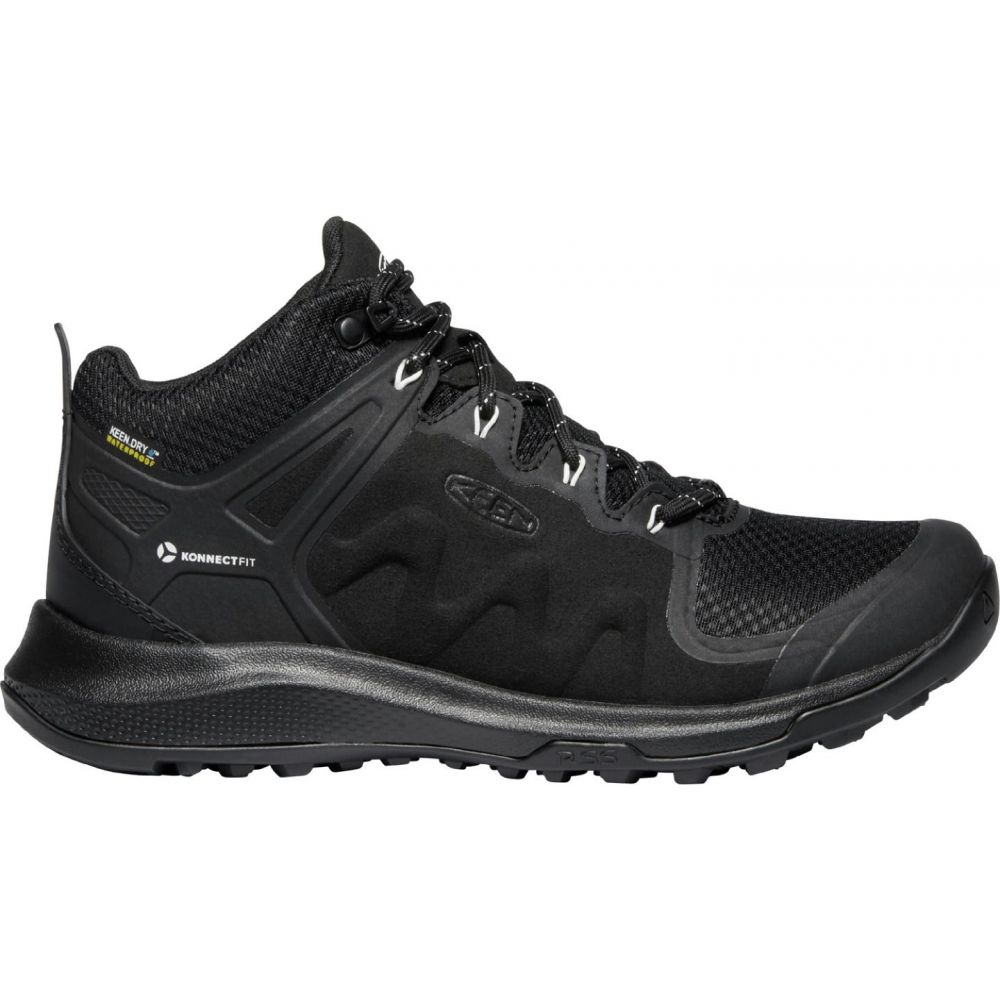XV_ レディース ハイキング・登山 シューズ・靴【KEEN Explore Waterproof Hiking Shoes】Black/Star White
