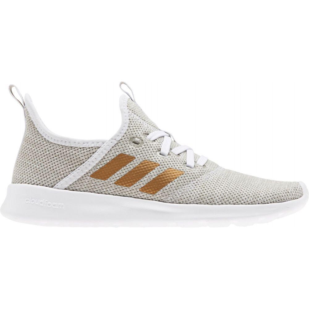 アディダス adidas レディース スニーカー シューズ・靴【Cloudfoam Pure Shoes】White/Gold Metallic