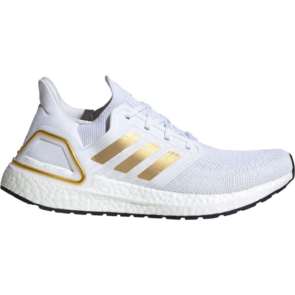 アディダス adidas レディース ランニング・ウォーキング シューズ・靴【Ultraboost 20 Running Shoes】White/Gold