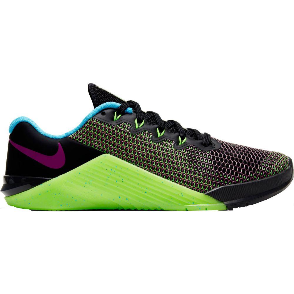 ナイキ Nike レディース フィットネス・トレーニング シューズ・靴【Metcon 5 AMP Training Shoes】Black/Pink/Green