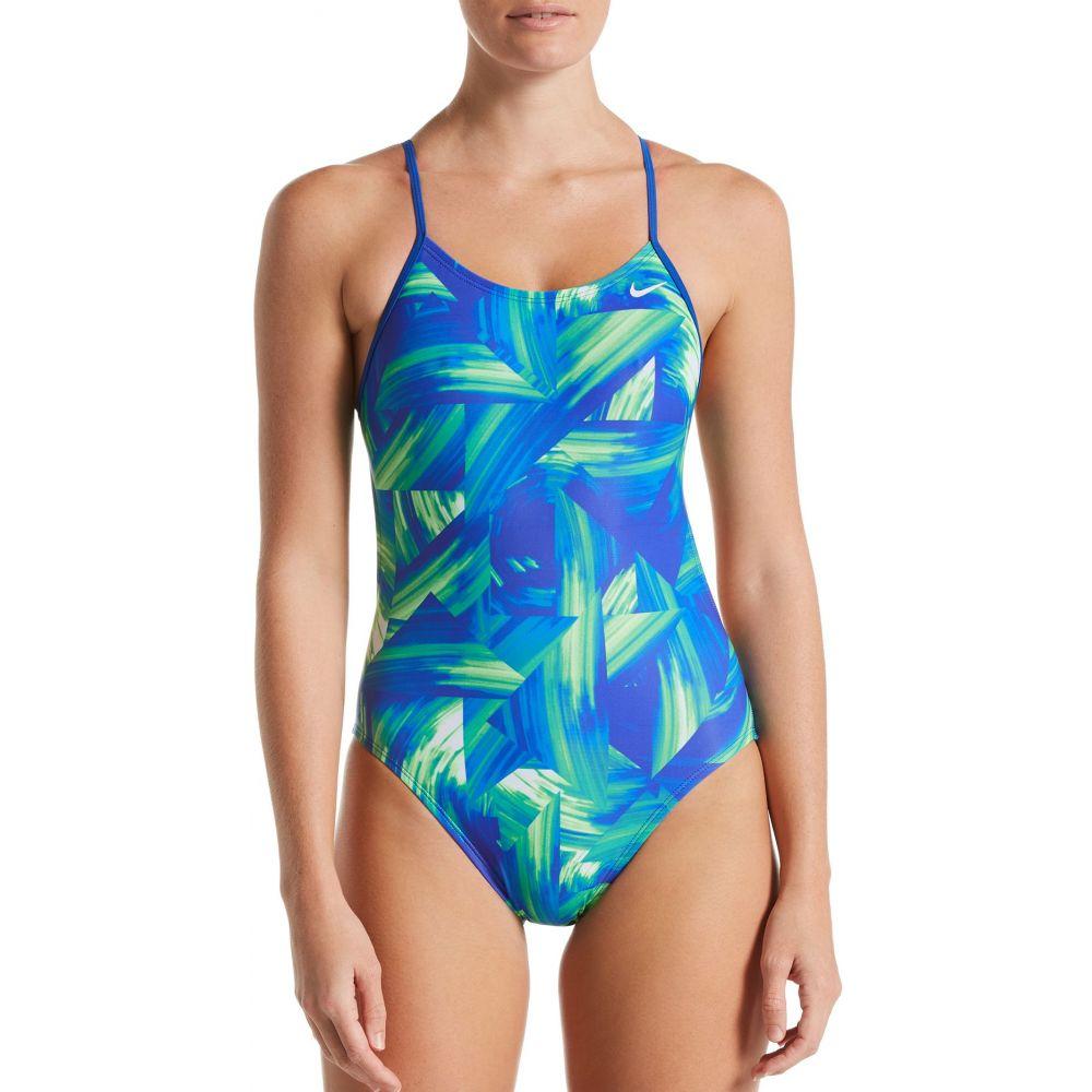 ナイキ Nike レディース ワンピース 水着・ビーチウェア【Twisted Break Cut-Out One Piece Swimsuit】Blue Green