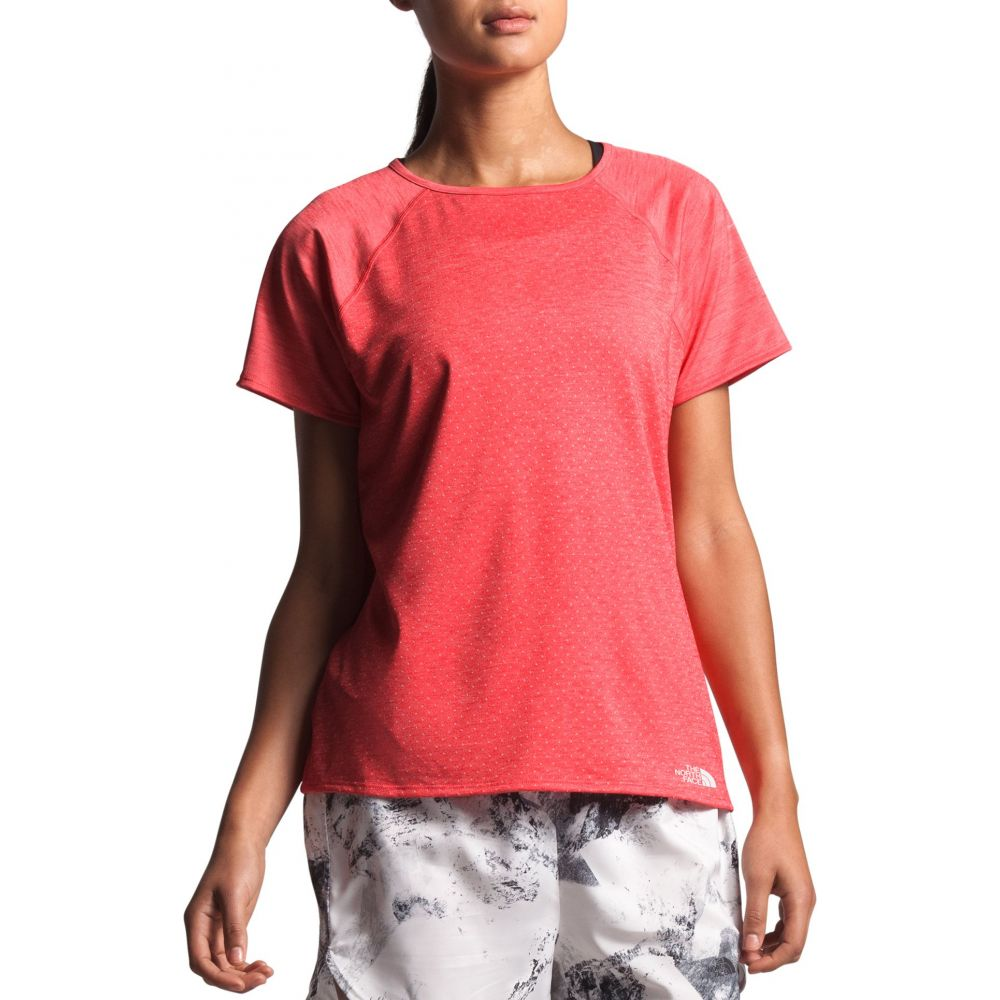 ザ ノースフェイス The North Face レディース Tシャツ トップス【Active Trail Jacquard T-Shirt】Cayenne Red Heather