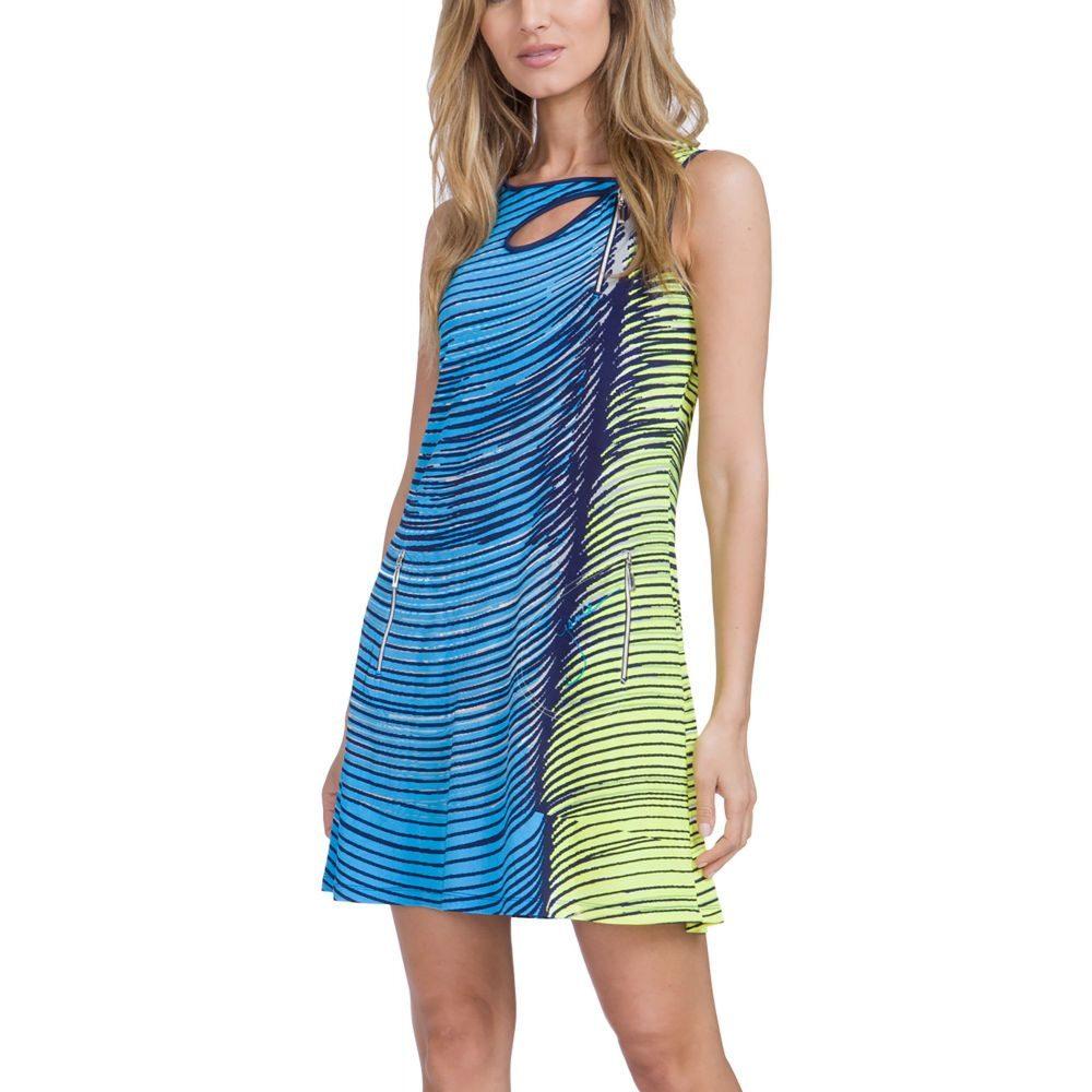 ジェイミー サドック Jamie Sadock レディース ゴルフ トップス【Wave Print Sleeveless Golf Dress】Bali