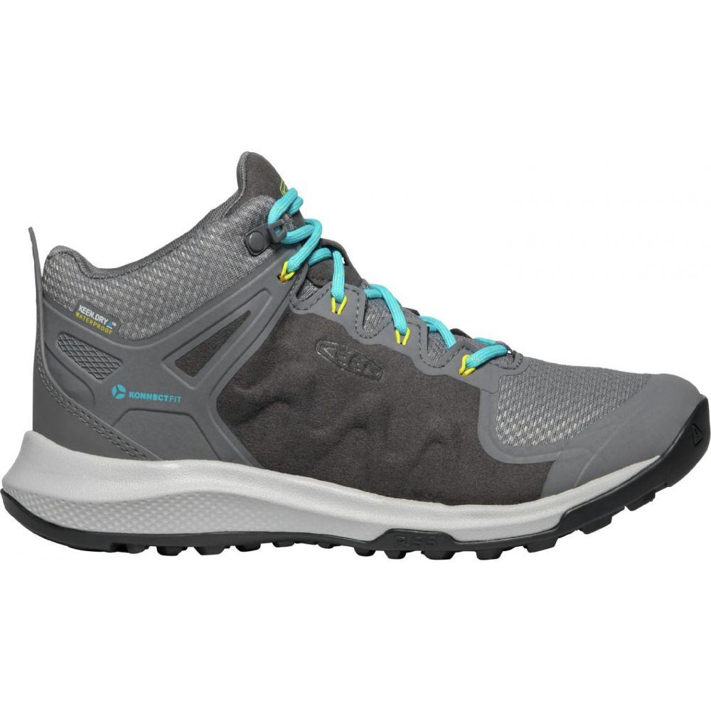 キーン Keen レディース ハイキング・登山 シューズ・靴【KEEN Explore Mid Waterproof Hiking Boots】Steel Grey/Bright Turq