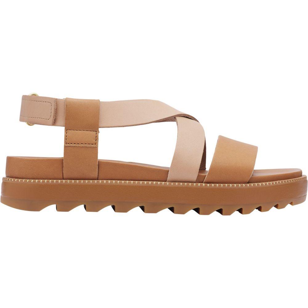 ソレル SOREL レディース サンダル・ミュール シューズ・靴【Roaming Criss Cross Sandals】Camel brown