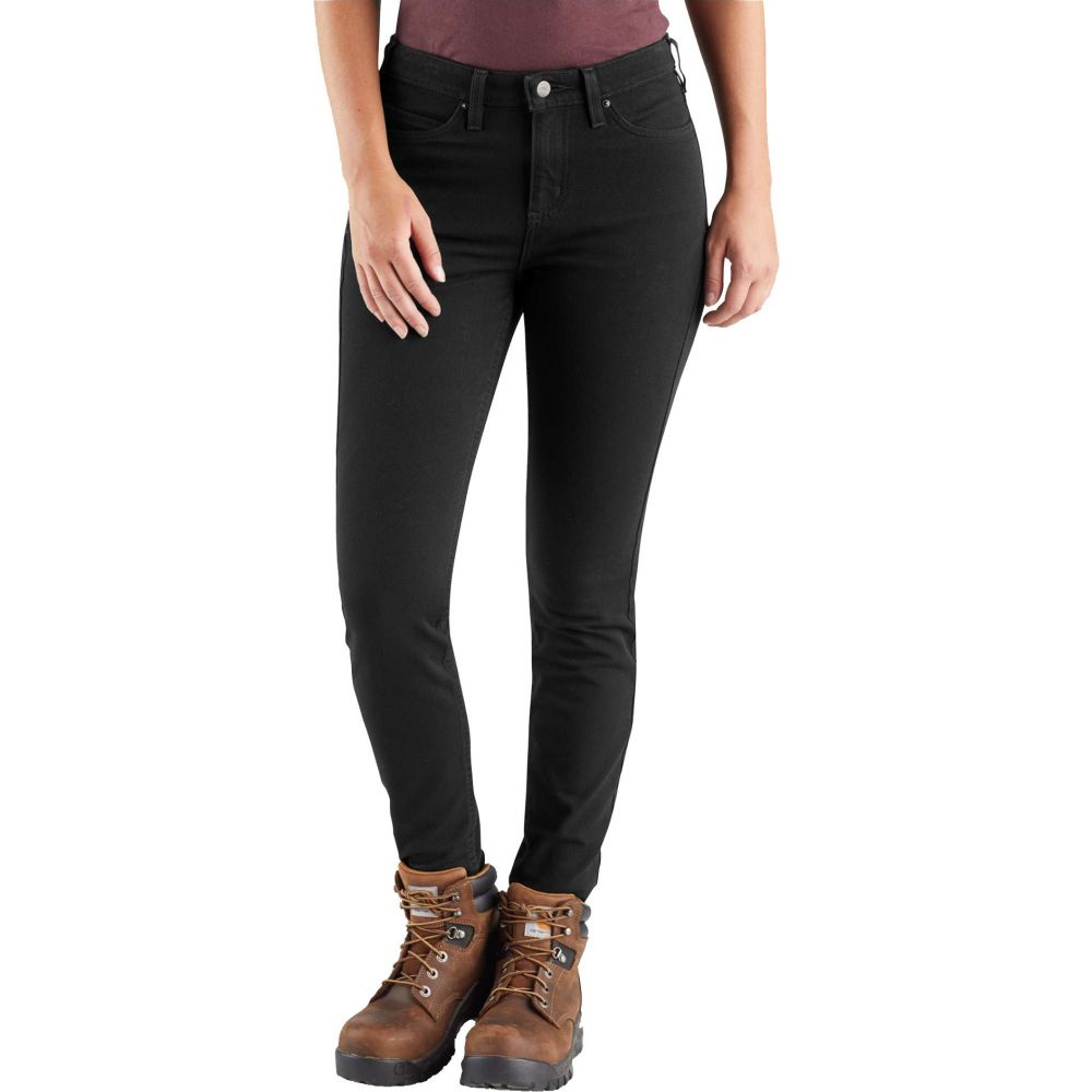 カーハート Carhartt レディース スキニー・スリム ボトムス・パンツ【Rugged Flex Slim Fit Work Pants】Black