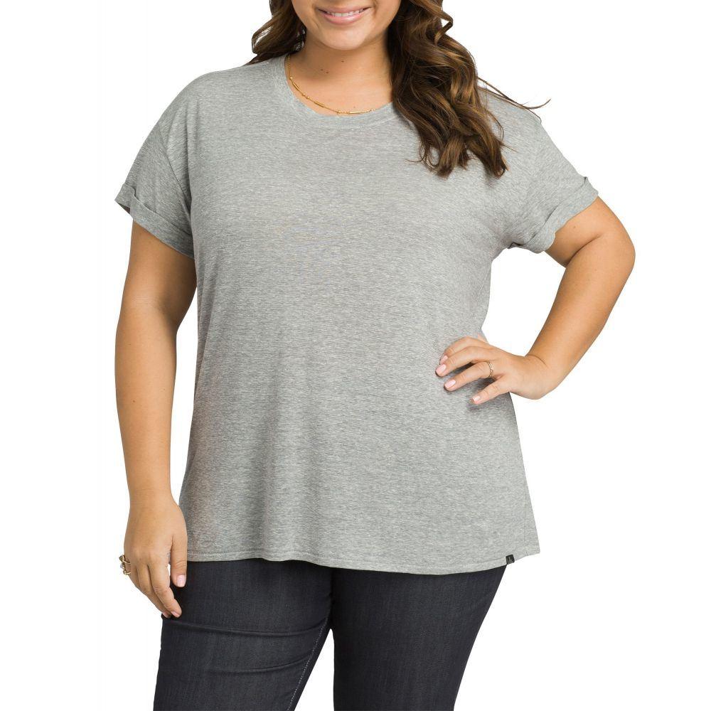 プラーナ prAna レディース Tシャツ トップス【Plus Size Cozy Up T-Shirt】Heather Grey