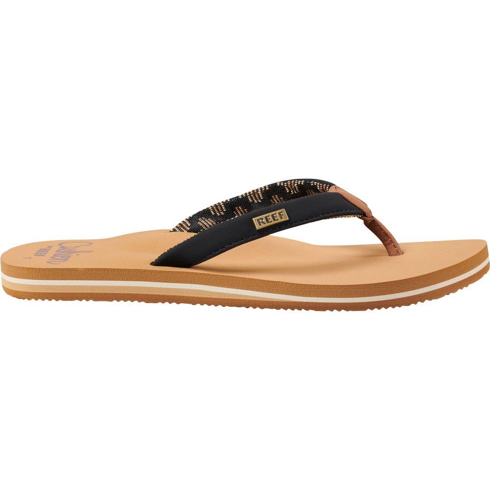 リーフ Reef レディース ビーチサンダル シューズ・靴【Cushion Sands Flip Flops】Black/Tan