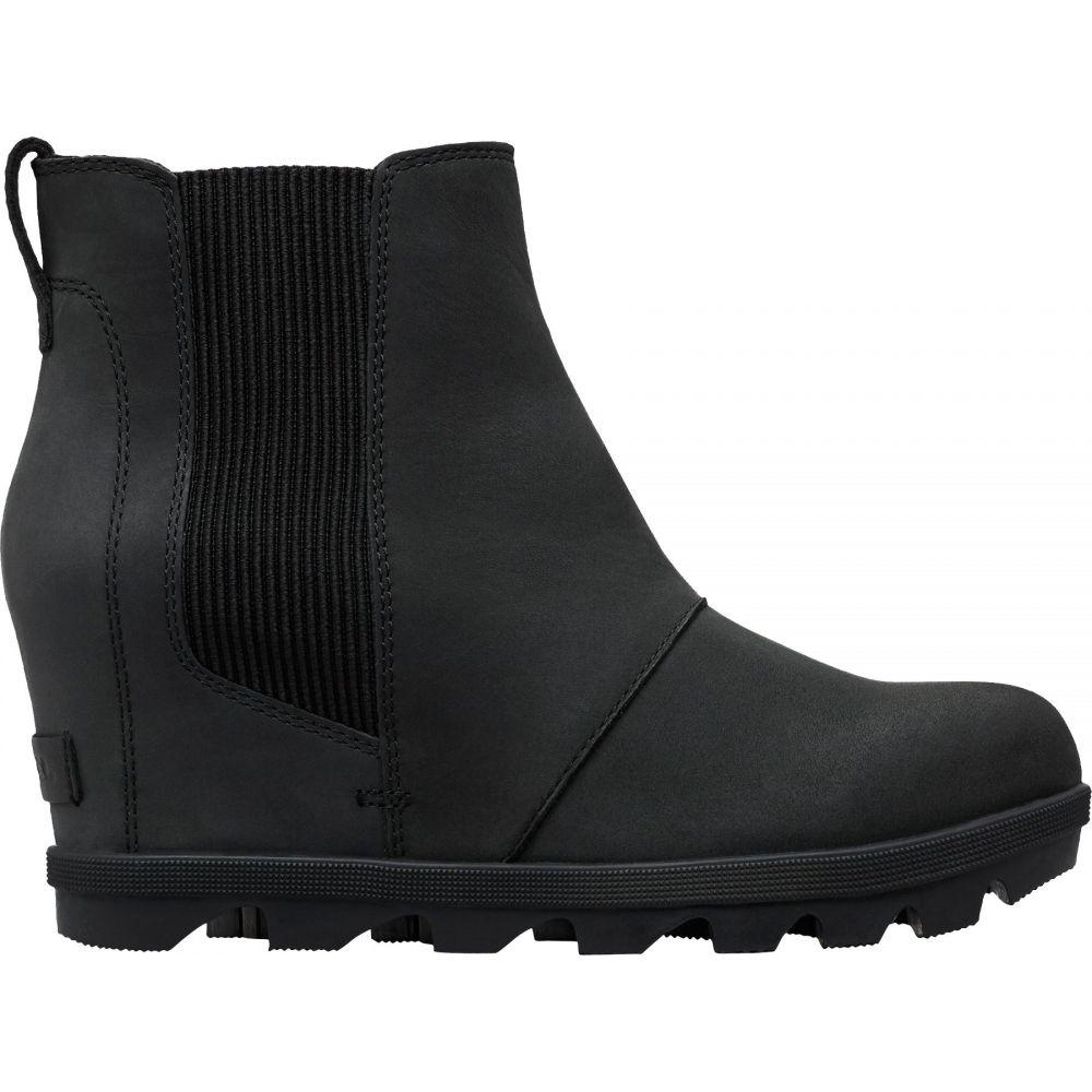 ソレル SOREL レディース ブーツ シューズ・靴【Joan of Arctic Wedge II Chelsea Casual Boots】Black