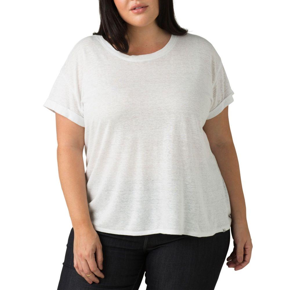 プラーナ prAna レディース Tシャツ トップス【Plus Size Cozy Up T-Shirt】White