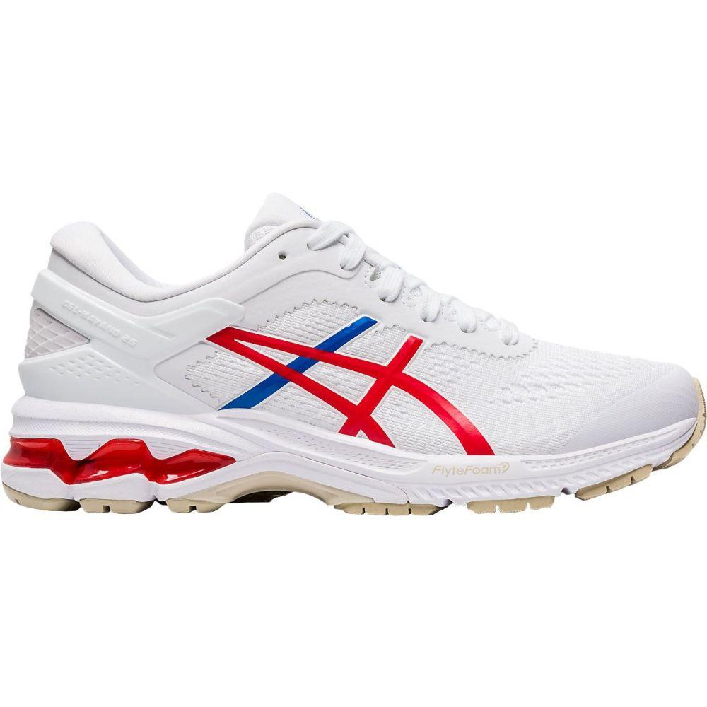 アシックス ASICS レディース ランニング・ウォーキング シューズ・靴【GEL-Kayano 26 Retro Tokyo Running Shoes】White/Red/Blue