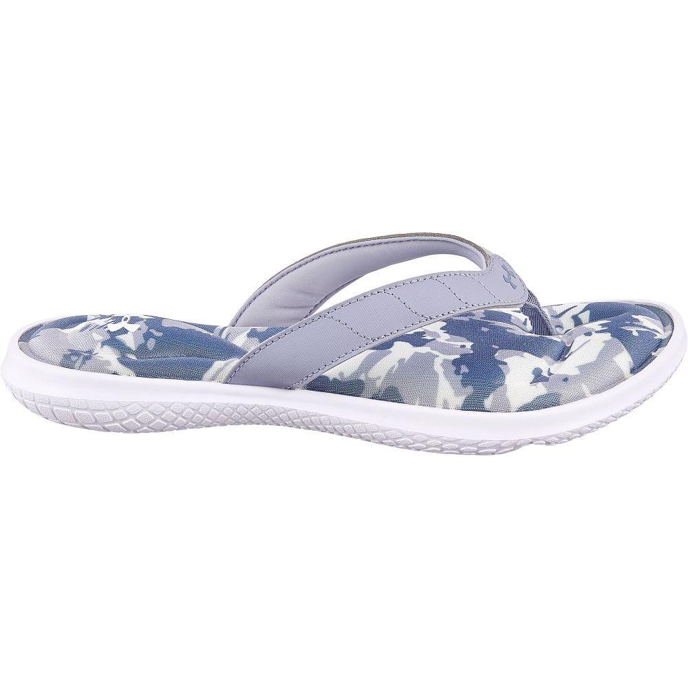 アンダーアーマー Under Armour レディース ビーチサンダル シューズ・靴【Marbella VII Flip Flops】White/Purple
