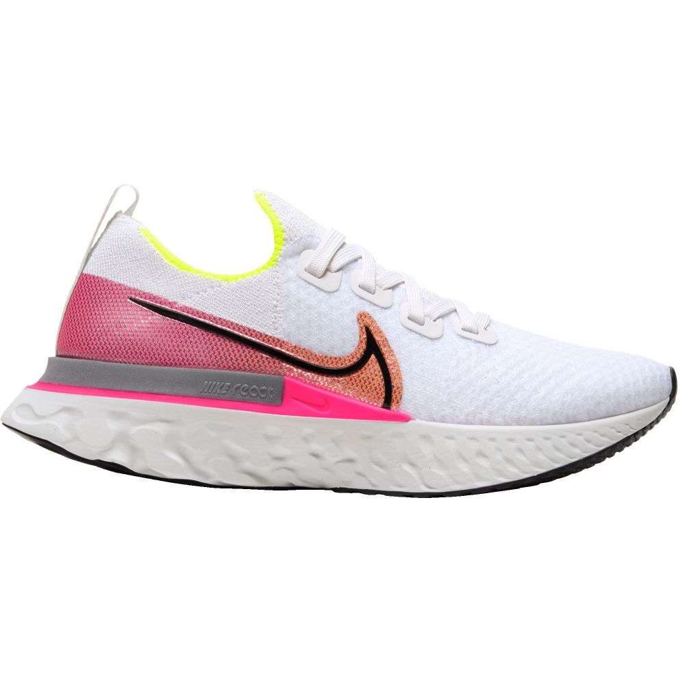 ナイキ Nike レディース ランニング・ウォーキング シューズ・靴【React Infinity Run Flyknit Running Shoes】Platinum Tint/Black/Pink Blast