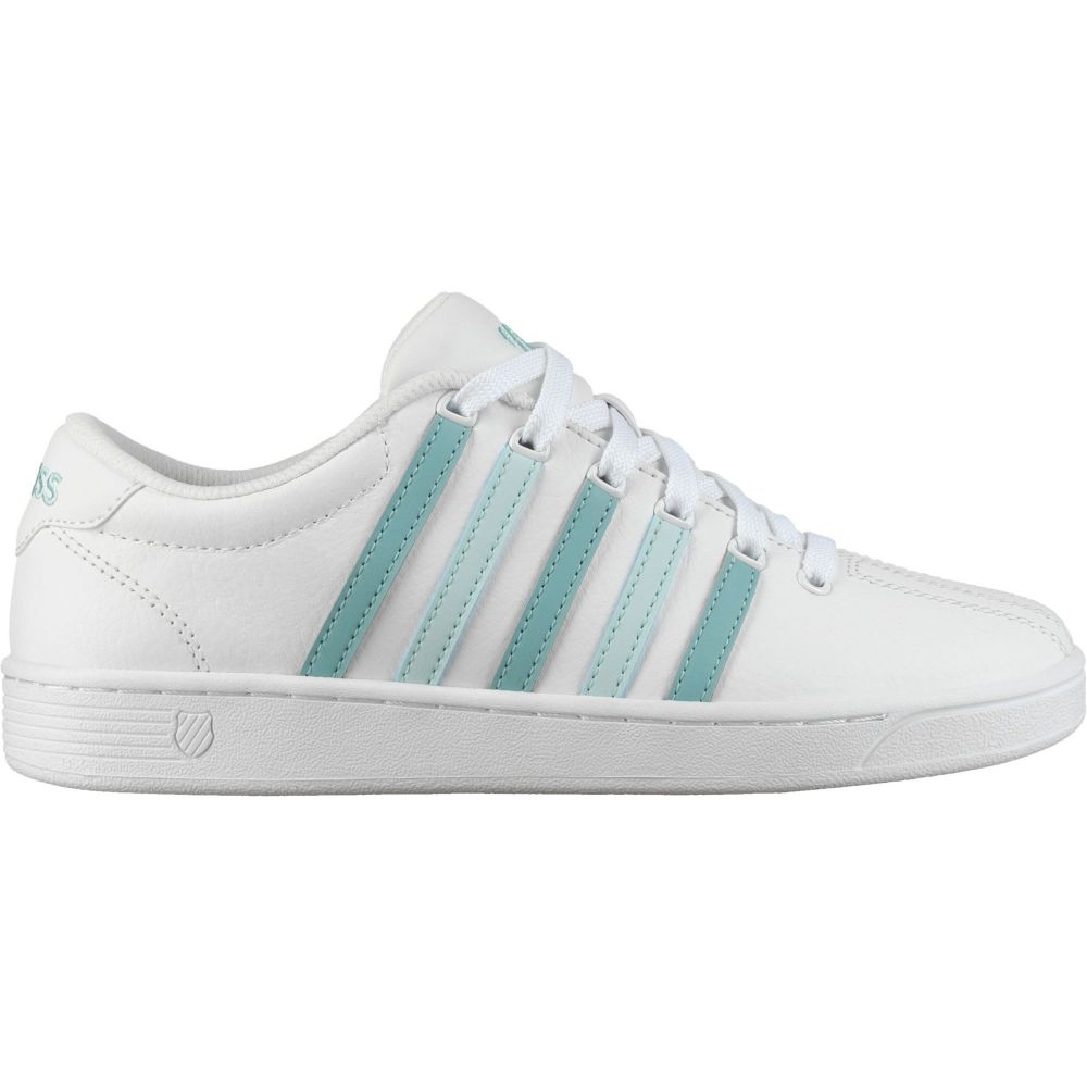 ケースイス K-Swiss レディース スニーカー シューズ・靴【Court Pro II Shoes】White/Aqua