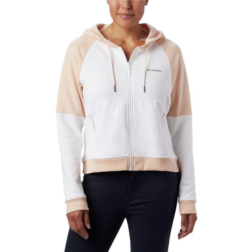 コロンビア Columbia レディース フリース トップス【Lodge Fleece Full-Zip Jacket】White/Peach Cloud