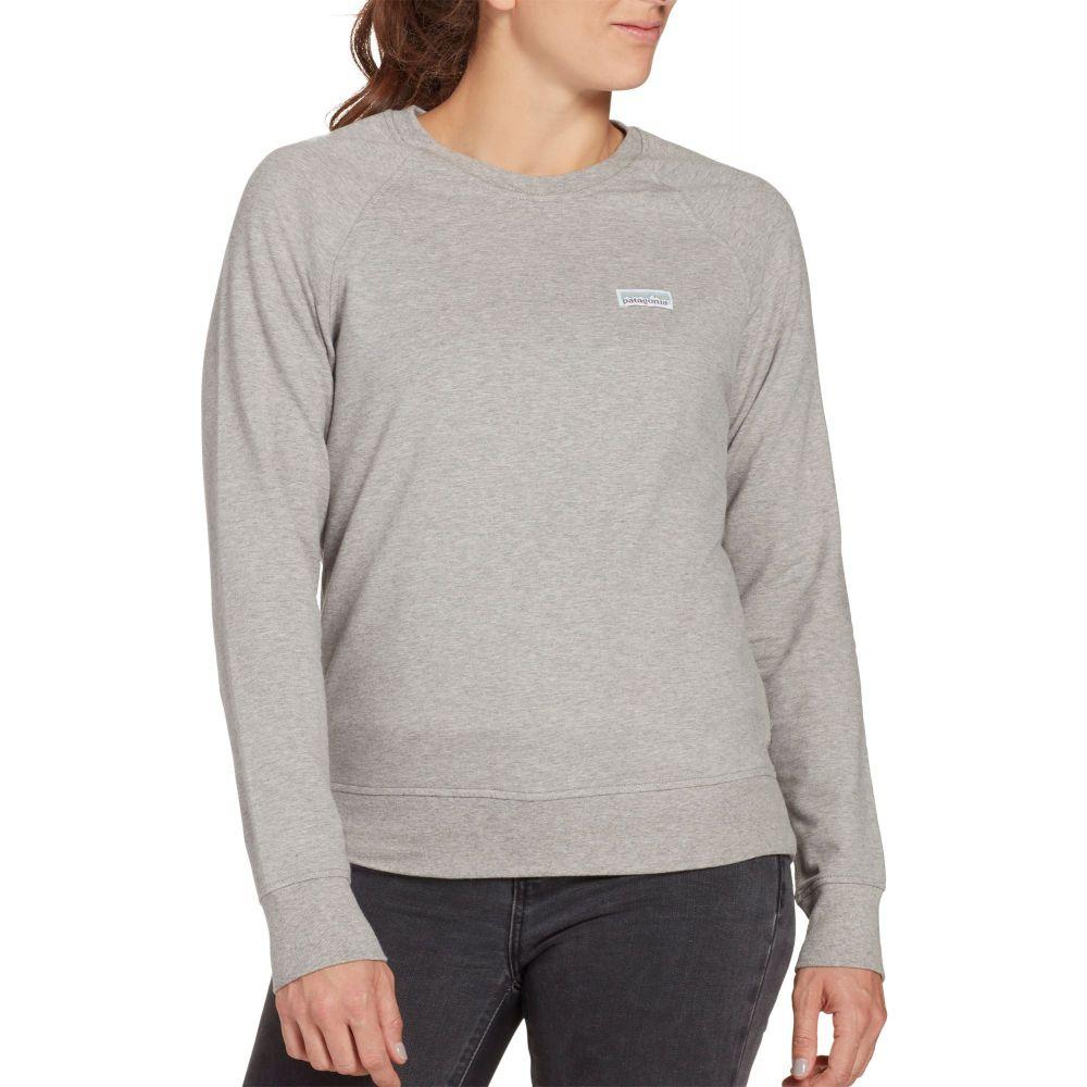 パタゴニア Patagonia レディース スウェット・トレーナー トップス【Pastel P-6 Label Ahnya Crew Sweatshirt】Drifter Grey