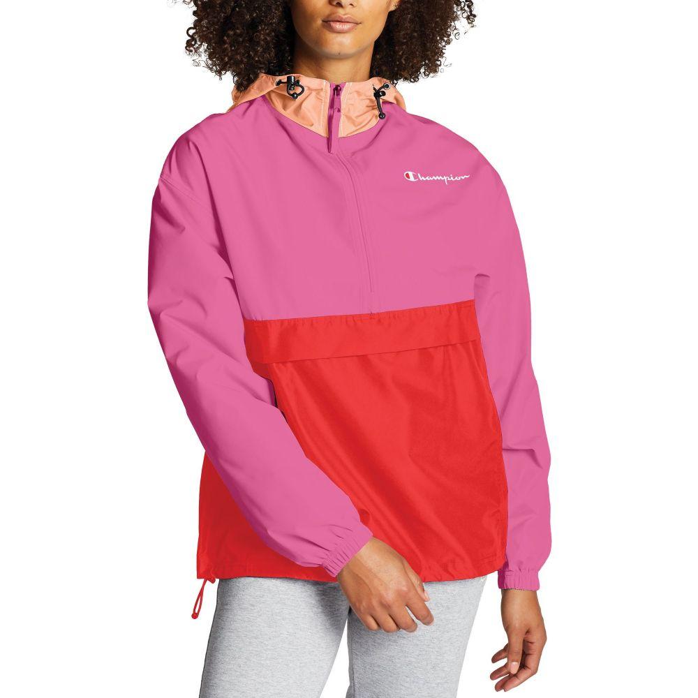チャンピオン Champion レディース ジャケット アウター【Packable Colorblocked Jacket】Peony Paradise
