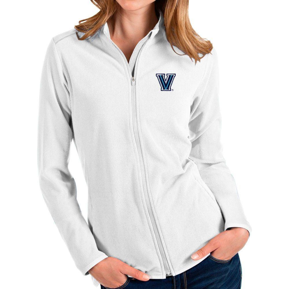 アンティグア Antigua レディース ジャケット アウター【Villanova Wildcats Glacier Full-Zip White Jacket】