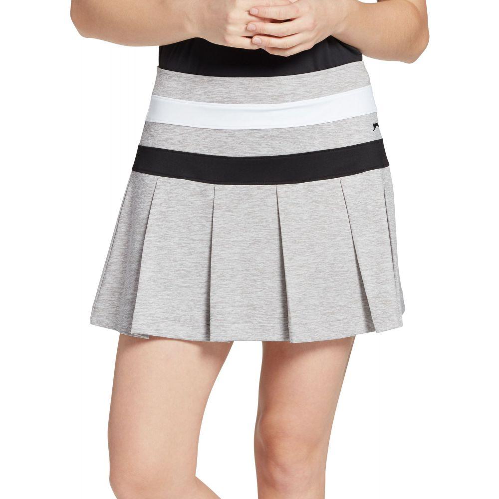 スラセンジャー Slazenger レディース ゴルフ ボトムス・パンツ【Night Stripe Pleated Heather Golf Skort】Light Heather Grey