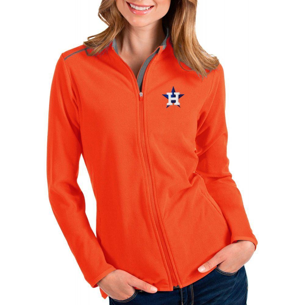 アンティグア Antigua レディース ジャケット アウター【Houston Astros Orange Glacier Full-Zip Jacket】