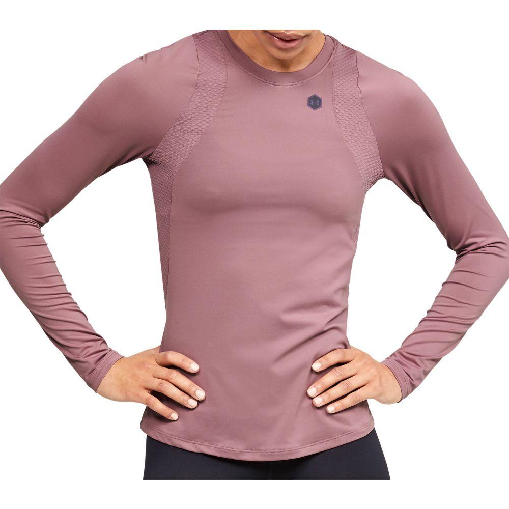 アンダーアーマー Under Armour レディース トップス 【RUSH Long Sleeve Shirt】Hushed Pink/Black