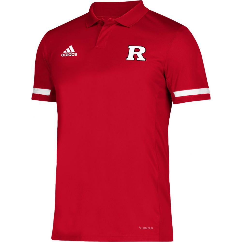 アディダス adidas メンズ アメリカンフットボール トップス【Rutgers Scarlet Knights Scarlet Team 19 Sideline Football Polo】