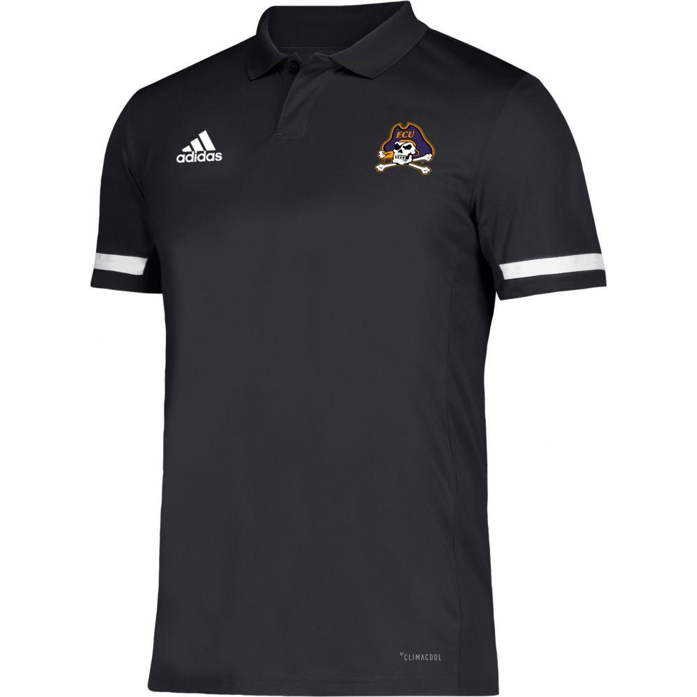 アディダス adidas メンズ アメリカンフットボール トップス【East Carolina Pirates Team 19 Sideline Football Black Polo】
