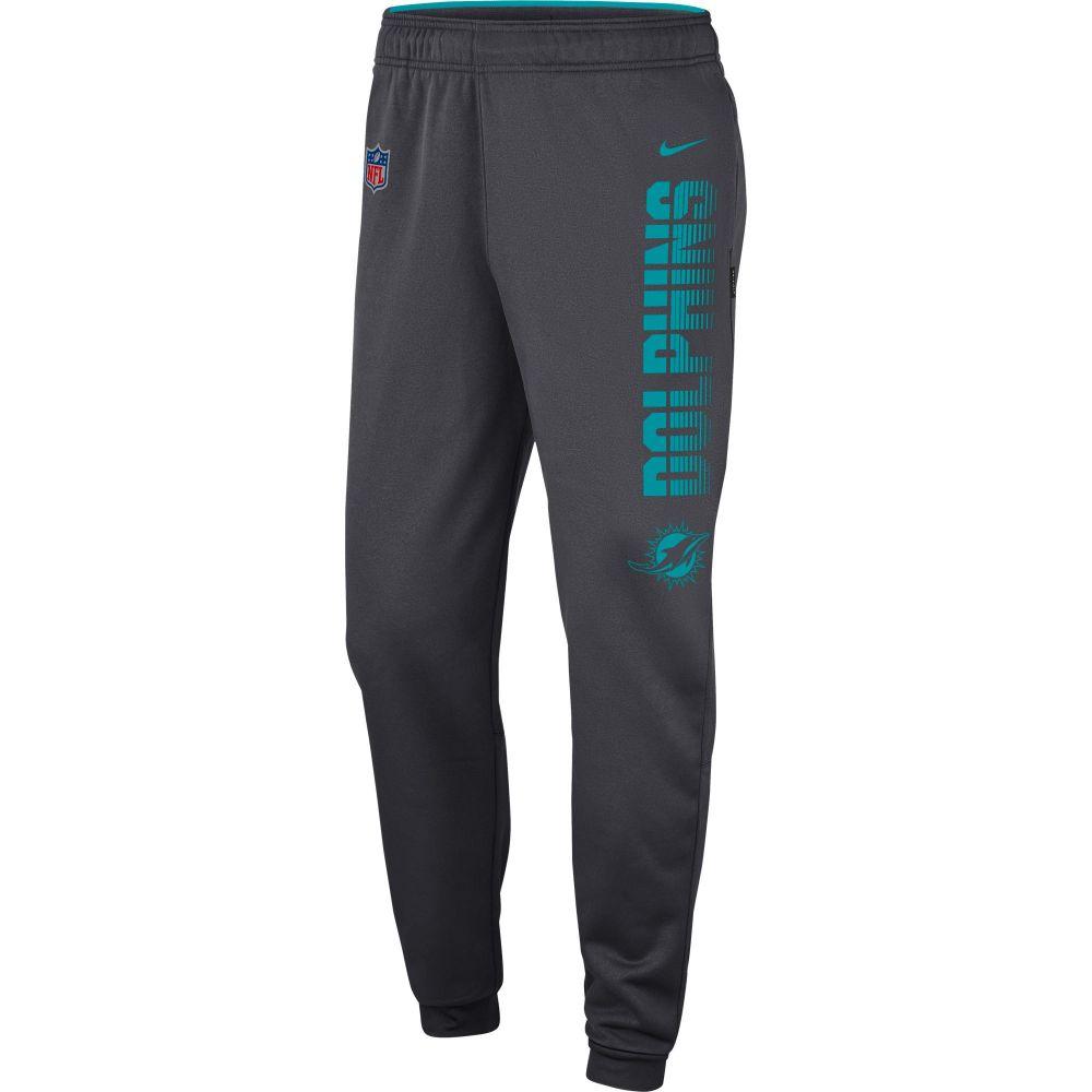 ナイキ Nike メンズ フィットネス・トレーニング ボトムス・パンツ【Miami Dolphins Sideline Therma-FIT Performance Anthracite Pants】