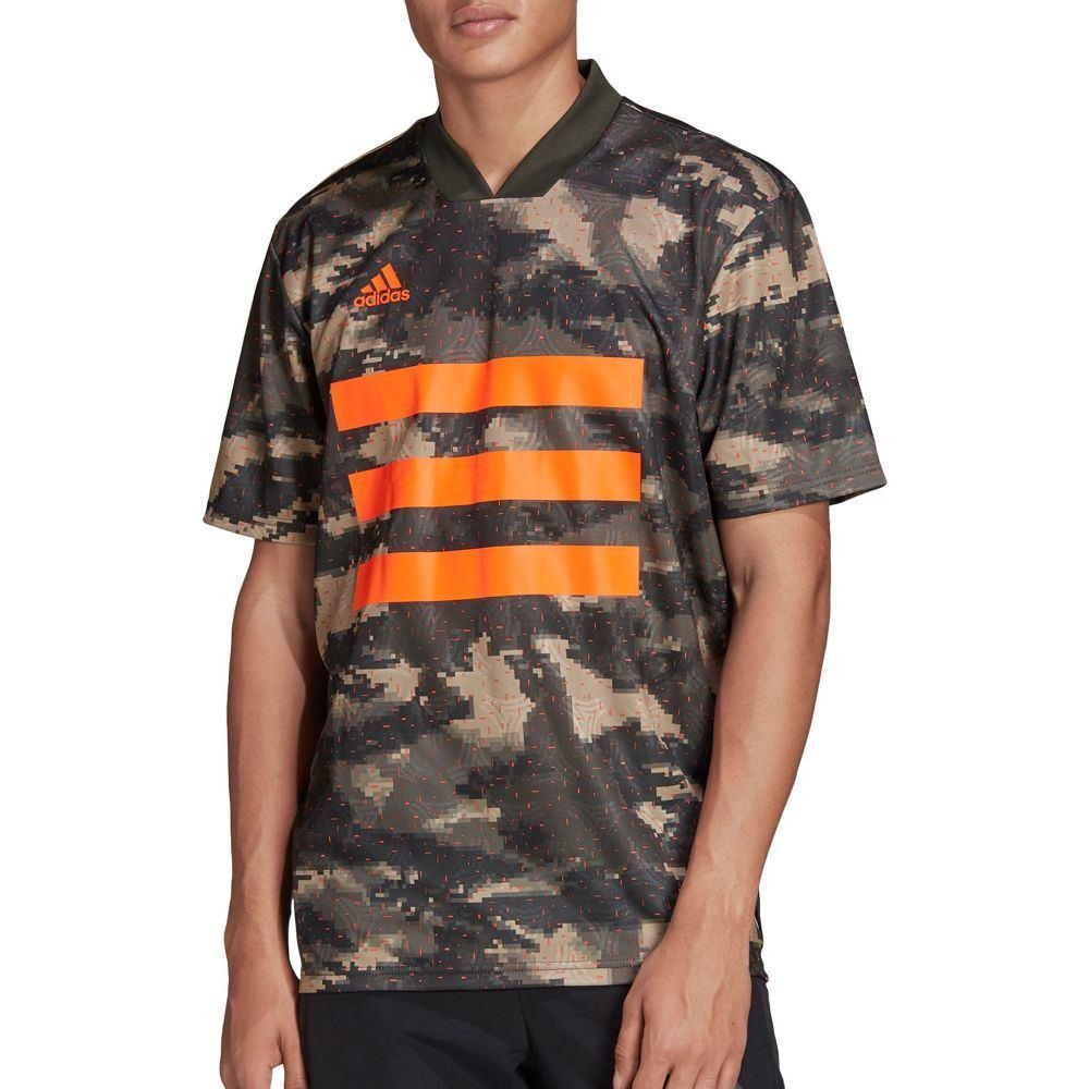 アディダス adidas メンズ サッカー トップス【TAN Camouflage Graphic Short Sleeve Soccer Jersey】Khaki