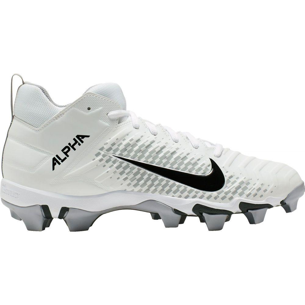 ナイキ Nike メンズ アメリカンフットボール シューズ・靴【Alpha Menace Shark 2 Mid Football Cleats】White/Black