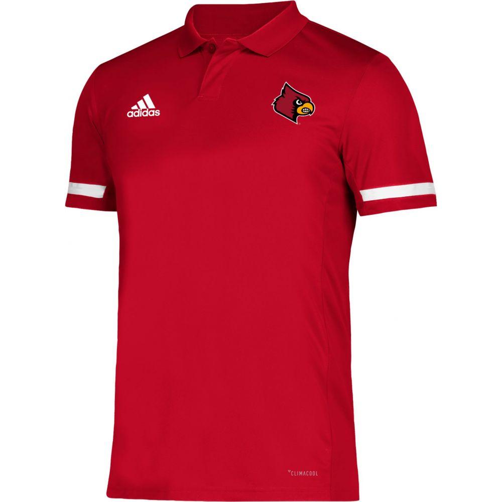 アディダス adidas メンズ アメリカンフットボール トップス【Louisville Cardinals Cardinal Red Team 19 Sideline Football Polo】